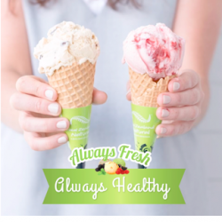 [New Zealand Natural Café] Whether it's an after yoga snack, or a late night office treat, our 97% fat-free frozen yoghurt is