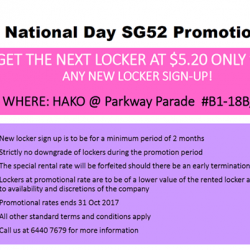 [Toy Outpost] National Day SG52 Promotion at HAKO @ PARKWAY PARADE
