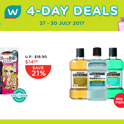 [Watsons Singapore] Pump up your mid-week with our 4-Day-Deals!