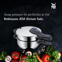 [WMF] Shrug off the weight of excellence as you take another step towards culinary perfection at out Robinsons JEM atrium sale