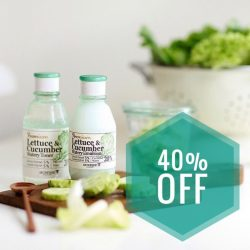 [Skinfood] Take 40% Off your favourite Premium Lettuce & Cucumber Watery Line this weekend!