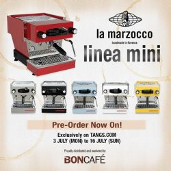[Bon Cafe] Boncafé is proud to launch Linea Mini, a La Marzocco Classic redesigned for the kitchen.