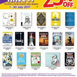 [MPH] Enjoy up to 25% OFF on selected titles from the Gotta Have It promotional titles at MPH Raffles City and