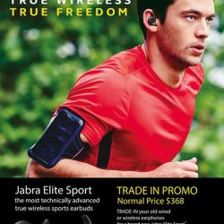 [Nübox] Ditch the wires and workout freely with Jabra Elite Sport bluetooth wireless sport earbuds!
