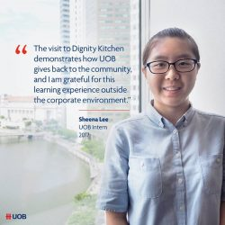[UOB Bank] Other than learning the ropes of the banking industry, our summer interns also play a part in giving back to