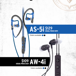 [Nübox] Premium sports earphones from Klipsch are now up to $70 off for AS-5i and AW-4i models!