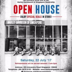 [Harley-Davidson] Deals to look out for this Saturday's open house.