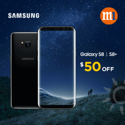 [M1] Exclusively for SAFRA members, enjoy $50 off Samsung Galaxy S8 / S8+ when you sign up or re-contract on any