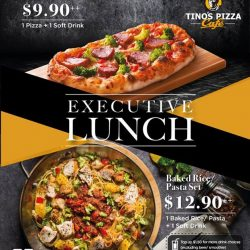 [TINO'S PIZZA CAFE] Lunch hour has just got better with our all new executive lunch starting from only $9.