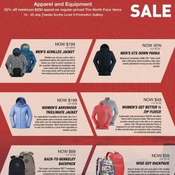 [Isetan] Join The North Face SALE of Up to 50% off on apparel and equipment!