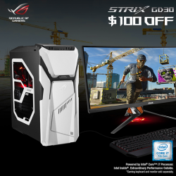 [ASUS] In the month of July, receive $100 OFF on every purchase of the ROG Strix GD30 gaming desktop powered by
