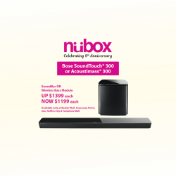 [Nübox] Bose SoundTouch 300 offers big sound and thunderous bass for your home audio!