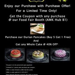 [Swensen's] Calling All Durian Lovers,We are having a Purchase with Purchase Offer happening at our AMK Hub, Food Fair Booth