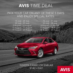 [AVIS] Avis Time Deal | Drive around this week!