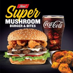 [Carl's Jr.] Introducing the new Super Mushroom Burger!
