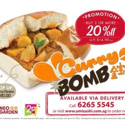 [UMISUSHI Singapore] umidelivery Attention Curry Lovers❗️🎉 Now you can order Neo Garden's Curry Bomb (金宝藏) through umisushi delivery and with a GOOD
