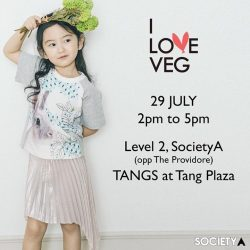 [SocietyA - Shoes & Accessories Lounge] To celebrate launch of I Love Veg korean kids wear brand, we are holding a kids colouring event at Tangs
