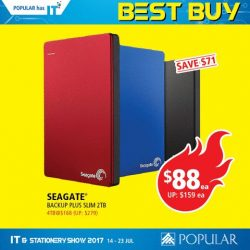 [POPULAR Bookstore] Fancy a 2TB Hard Disk at only $88, or a 16GB thumb drive at $7.