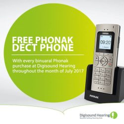 [UBREAKIFIX] Celebrating 70 years of Phonak, Digisound Hearing is giving away a FREE Phonak DECT phone with every binaural Phonak purchase
