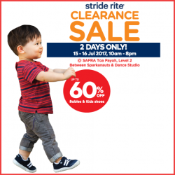 [Stride Rite/Petit Bateau] Stride Rite END-SEASON CLEARANCE starts tomorrow, with up to 60% OFF on kids shoes!