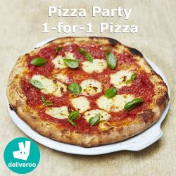 [The Sandwich Shop] Pizza lovers rejoice, cos' it's 1-for-1 pizza party with Deliveroo this week!