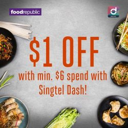 [Singtel] From now till 31 July 2017, enjoy $1 OFF with min.