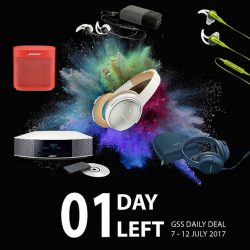 [BOSE] It's the final countdown to our GSS Daily Deal starting in a few hours at midnight!