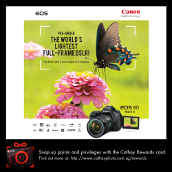 [Cathay Photo] AVAILABLE FOR PRE-ORDERIntroducing the World's Latest Full-frame DSLR - the Canon EOS 6D MK II.