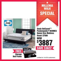 [OPPO] With over 100 bed frames and mattresses to choose from, there's something for every budget at HarveyNormanSG Millenia Walk