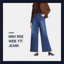[Uniqlo Singapore] This season, we've included a few in-trend cuts to our jeans collection: high-rise, wide fit and cigarette.