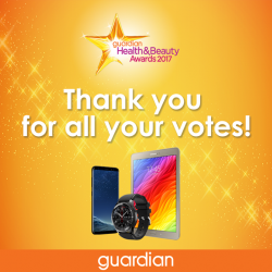 [JWHOTDOG] A BIG Thank YOU to all those who voted during our Guardian Health & Beauty Awards 2017!