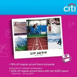 [LIV ACTIV] MORE GREAT DEALS ARE COMING YOUR WAY THIS GSS!
