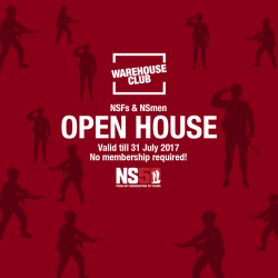 [NTUC FairPrice] In support of NS50, FairPrice salutes NSmen for their contribution with an exclusive NSmen Open House in Warehouse Club from