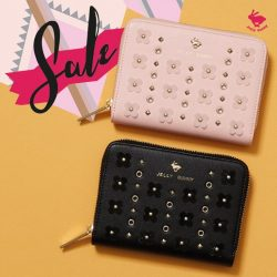 [Jelly Bunny] JELLY BUNNY END OF SEASON SALE• WALLET : BLOOM SHORT WALLET / BLACK , PINK / 48.