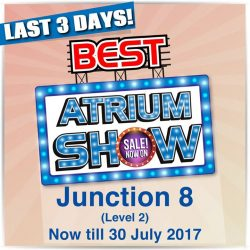 [Best Denki] We're looking forward to see you at our Atrium Show at Bishan Junction 8 (Level 2) because it is