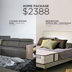 [Cellini] Get your Living Room Set and Designer Bedframe and a Nightingale Silenite Premium Quality Mattress for just $2388.