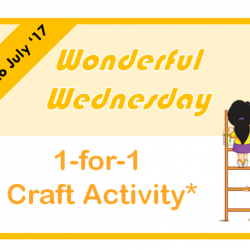 [eXplorerkid] Wednesdays are Wonderful when your child gets to enjoy a 1-for-1 craft activity!