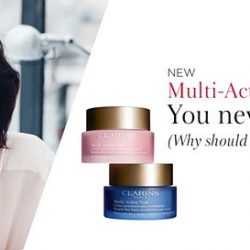 [Clarins] Meet the non-stop anti-ageing duo that keeps your skin looking youthful – NEW Multi-Active Day and Night Creams.