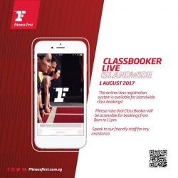[Fitness First] CLASS BOOKER: We are delighted to roll out your favourite online class registration app to all clubs island-wide on