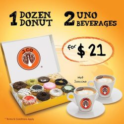 [J.Co Donuts & Coffee] Get a dozen donuts and 2 drinks for only $21!