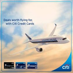 [Citibank ATM] Enjoy exceptional fares on Singapore Airlines to over 55 destinations, with Citi Credit Cards.