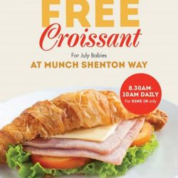 [Munch Saladsmith] FREE Croissant for July Babies at Munch Shenton Way!