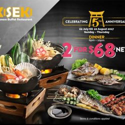 [Kiseki Japanese Buffet Restaurant] Kiseki is celebrating their 5th anniversary by giving you and your plus one a very satisfying dinner at $68 nett!