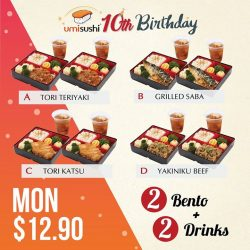 [UMISUSHI Singapore] umisushi10thBirthday It's Bento MONDAY!