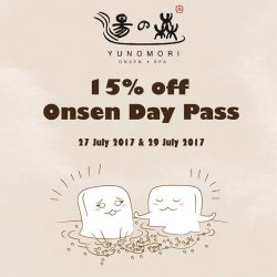 [Yunomori Onsen and Spa] Present your International Champions Cup Singapore tickets on 27 July 2017 and 29 July 2017 to enjoy 15% discount off