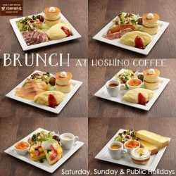 [Hoshino Coffee Singapore] We are open at 9:00am for weekend brunch at United Square 02-06/07!