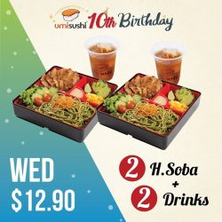 [UMISUSHI Singapore] umisushi10thBirthday 🎂 It's mid-week HEALTHY Soba time!