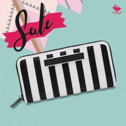 [Embrace Jewellery] JELLY BUNNY END OF SEASON SALE• WALLET : STRIP LONG WALLET/ BLACK/WHITE / 45.