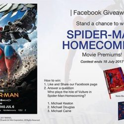 [Filmgarde Cineplex] Stand a chance to win SPIDER-MAN: HOMECOMING movie premiums!