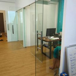 [BESGLAS SINGAPORE] PIVOT glass doors offer the perfect solution to open up or close off your office space.